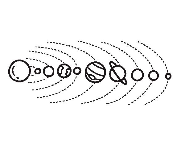 Disegno Di Sistema Solare Da Colorare Acolore Com