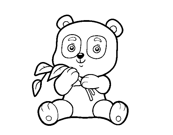 Disegno Di Un Orso Panda Da Colorare Acolore Com