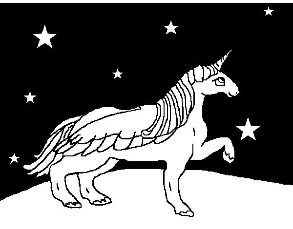 Disegno Di Unicorno Guardando Le Stelle Da Colorare Acolorecom