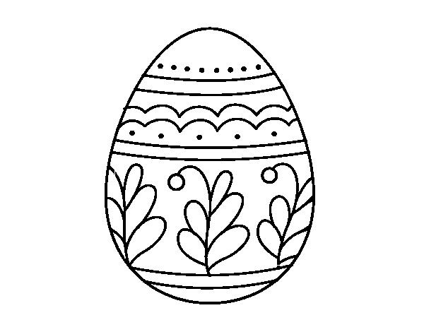 Disegno Di Uovo Di Pasqua Mandala Da Colorare Acolorecom