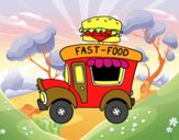 Food truck di hamburger